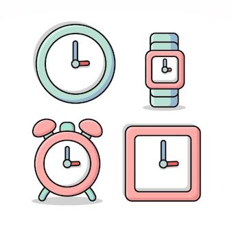 Clock type illustration set bundle