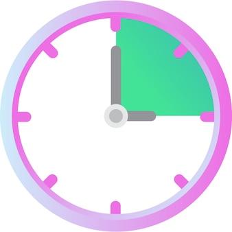 시계 벡터 시간 시계 아이콘 흰색 절연