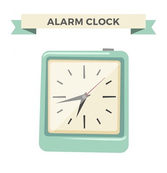 Clock watch alarm icon illustration