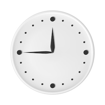 Clock with arrows black and white watch