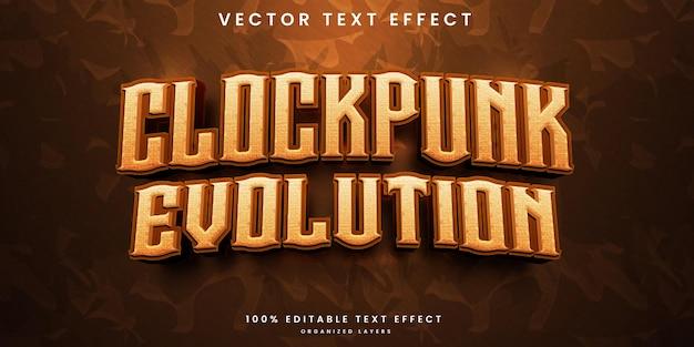 Clockpunk editable text effect