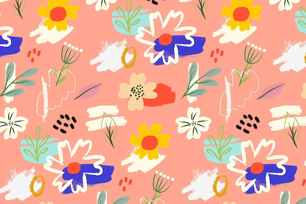Clolorful floral pattern