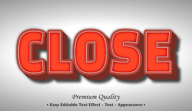 Close 3d font style effect
