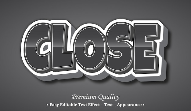 글꼴 스타일 효과 닫기