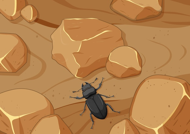 昆虫と空中シーンをクローズアップ