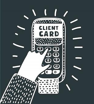 Pos端末でサービスを提供するカードの拡大図