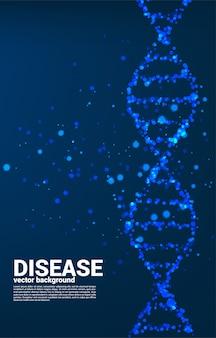 Закройте вверх по вирусу частицы вокруг предпосылки структуры дна. концепция наследственной болезни и болезни.