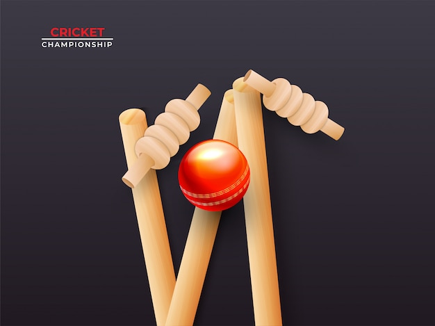 Close view of realistic cricket ball