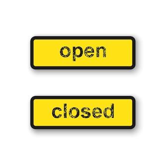 폐쇄 및 개방 표지판