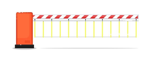 Закрытые шлагбаумные ворота или шлюз изолированы