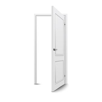Closed door isolated
