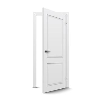 隔離された閉じたドア