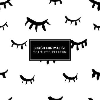 閉じた目のミニマリストシームレスパターン