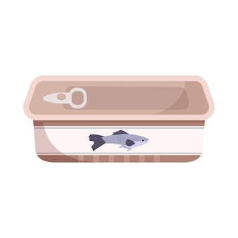 Closed fish tin can icon. a source of calcium and vitamins