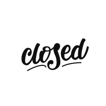 Closed lettering
