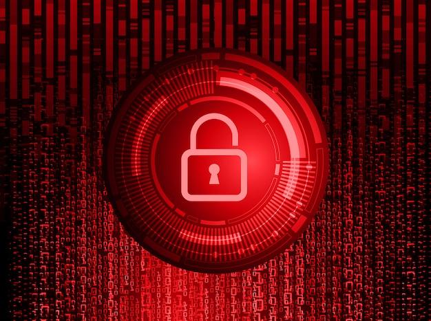 Closed padlock on digital background