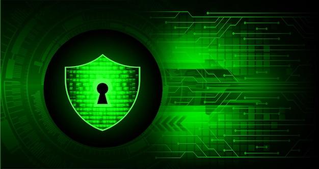 디지털 배경 사이버 보안 사이버 디지털 회로 미래 기술에 닫힌 자물쇠