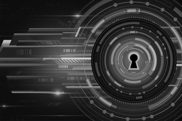 デジタル背景、サイバーセキュリティの南京錠を閉鎖 Premiumベクター