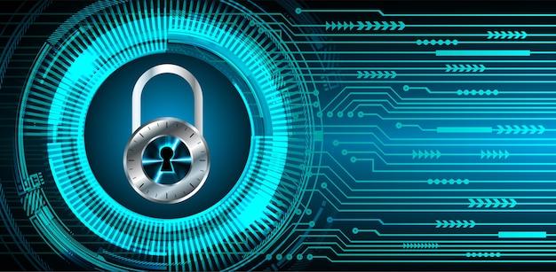 デジタル背景、サイバーセキュリティの南京錠を閉鎖