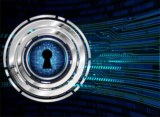 デジタル背景、サイバーセキュリティの南京錠を閉じました