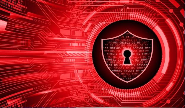 デジタル背景、サイバーセキュリティの南京錠を閉じました Premiumベクター