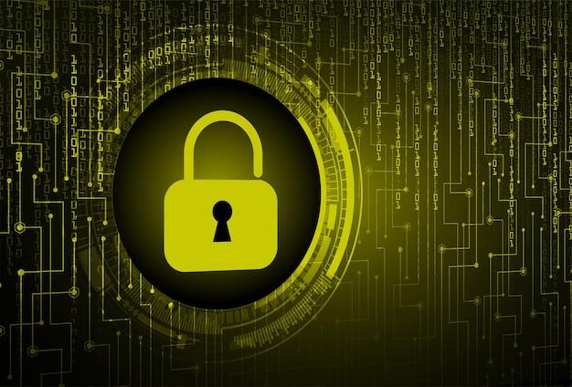 デジタル バック グラウンド サイバー セキュリティの南京錠を閉じた