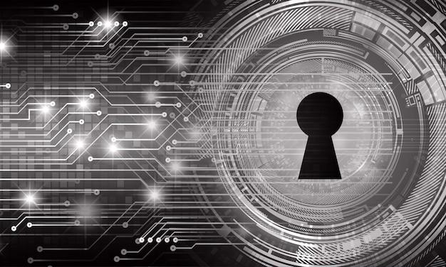 デジタルバックグラウンドサイバーセキュリティの南京錠を閉じました