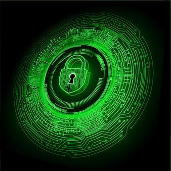 디지털 배경 사이버 보안에 닫힌 자물쇠 프리미엄 벡터