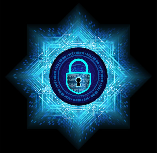 디지털 배경 사이버 보안에 닫힌 자물쇠