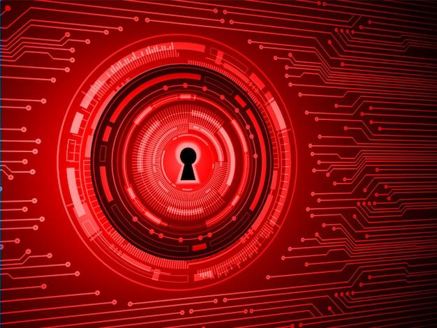 デジタル背景、赤いキーサイバーセキュリティの南京錠を閉鎖