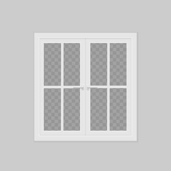 Closed realistic vector plastic window vector illustration