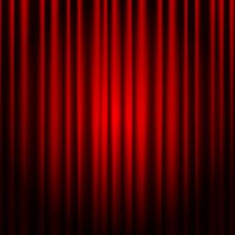 닫힌 된 빨간 극장 커튼