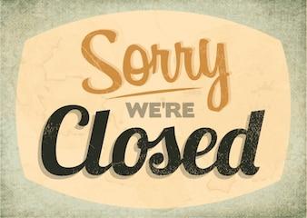 Closed sign label