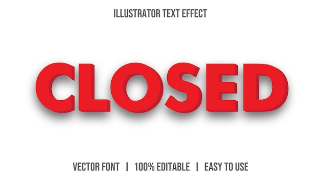 Closed  text effect