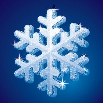 Снежинка 3d-формы крупного плана.
