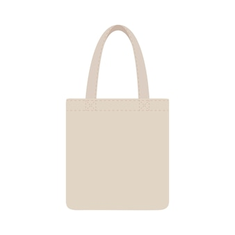 布エコバッグブランクまたは綿糸布バッグ。ショッピング用パッケージ