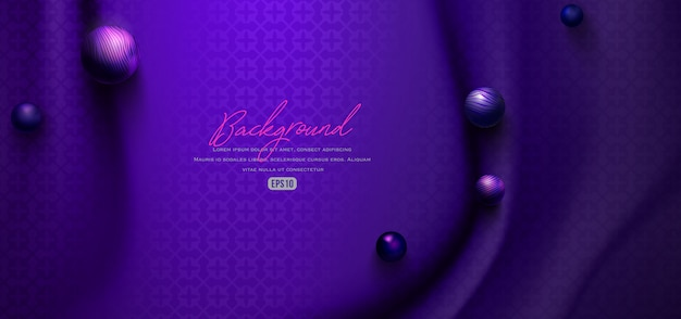 Cloth fabric and marble ball background