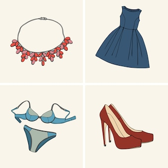 Clothes and accessories.