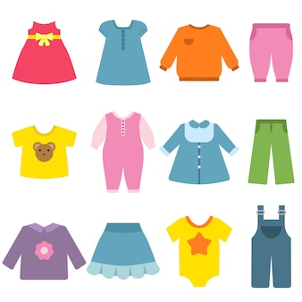 Clothes for children isolated