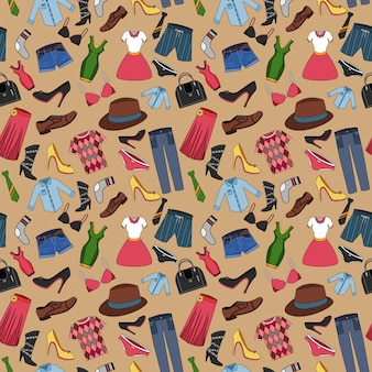 Clothes composition seamless pattern
