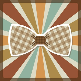 Clothes design over colorful stripes background