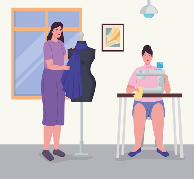 洋服デザイナーの女性