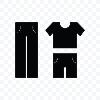 Clothes shirt and pants icon vector illustration on transparent background.