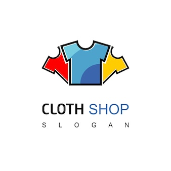 衣料品店のロゴテンプレート