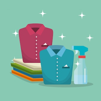 Clothes with laundry service