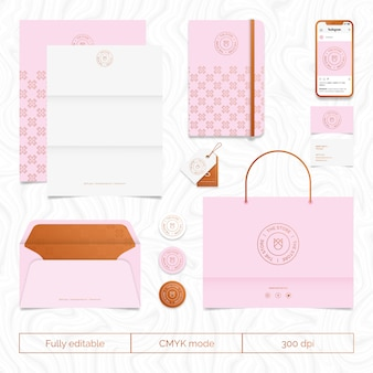 Clothing brand stationary set
