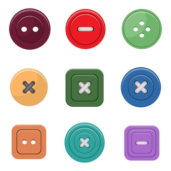 Clothing buttons design illustration isolated on white background
