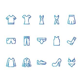 Одежда -современные иконки