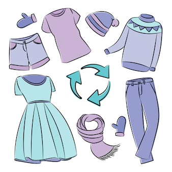 Clothing recycling global ecological