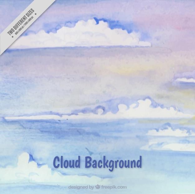 수채화 스타일의 구름 배경